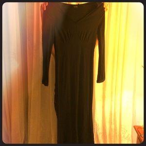 Unique French Black Maxi Dress